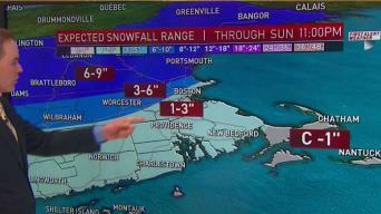 Heavy Snow Overnight; Ice and Rain Move in Sunday