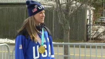 Gold Medalist, Mass. Native Holds Hockey Clinic in Quincy