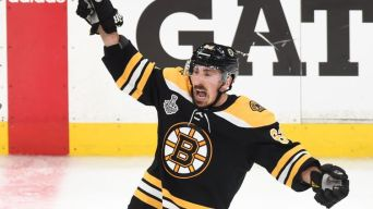 Marchand Taunts Blues With Crying Motion as He Leaves Ice