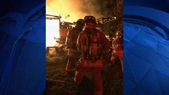 Firefighters Battle Massachusetts Barn Fire for 2 Hours