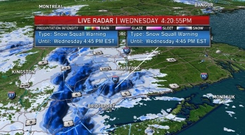 Snow Squalls, Blizzard-Like Conditions Make for Slick Commute