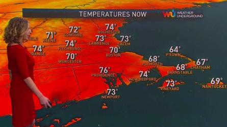 <p>Monday: Sun and clouds, bit humid early. Highs near 80.</p><p>Overnight Monday: Chance late showers. Lows around 60.</p><p>Tuesday: Occasional showers. Highs in the 70s inland, 60s coast.</p>