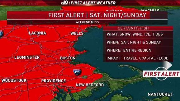 Weather Forecast Updated Snow Totals For Greater Boston Area
