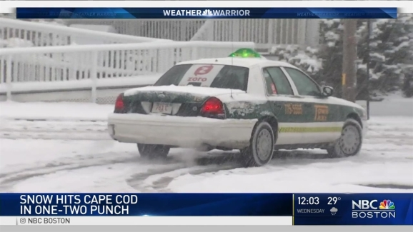 Snow Hits Cape Cod In   Punch