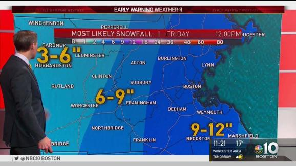Snow Storm Weather Map.Weather Forecast Slight Warm Up Before Snowstorm Nbc10 Boston