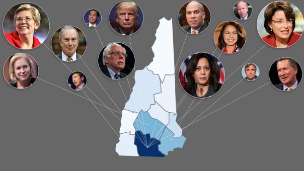 2020 Presidential Primaries: Tracking Hopefuls' Visits to NH