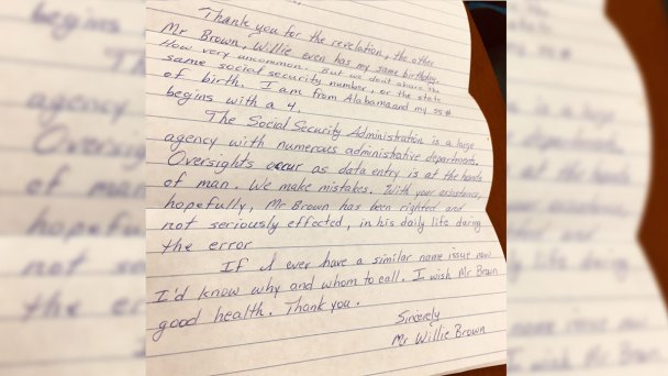 Inmate's Letter on Social Security Error: 'We Make Mistakes'