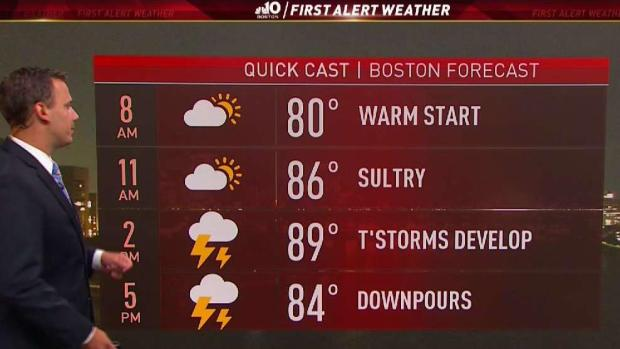 [NECN] Weather Forecast: Building Humidity Overnight