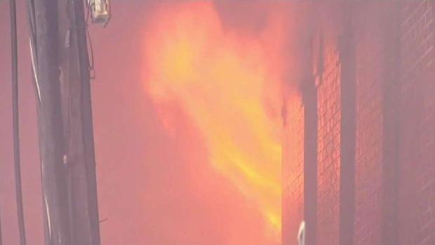 [NECN] 20 Displaced in 4-Alarm Cambridge Fire