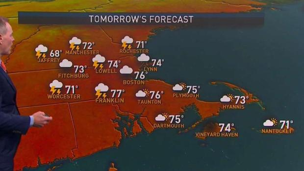 [NECN] Labor Day: Showers Arrive in the Afternoon, Thunder Possible