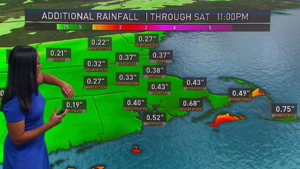 [NECN] Weather Forecast: Rainy and Cloudy