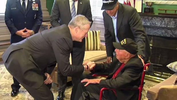 [NECN] 99-Year-Old Veteran Meets Gov. Baker on Tour Across US