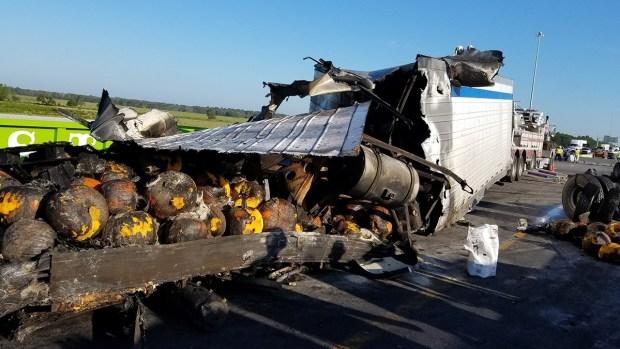 Unfortunate Truck Spills: Burning Pumpkins, Frozen Pizza