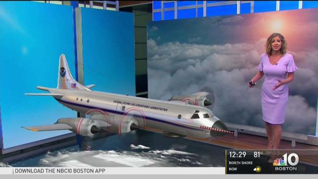 [NECN] AR Forecast: Hurricane Hunter Flies Into NBC10 Boston