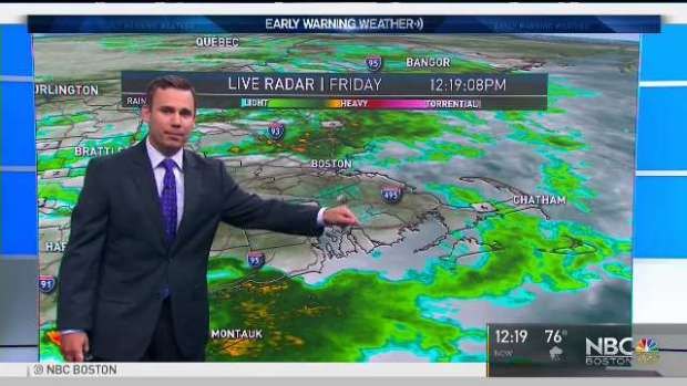 [NECN] Weather Forecast: Cloudy With Scattered Showers