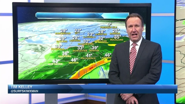 [NECN] Weather Forecast: Morning Snow to Rain