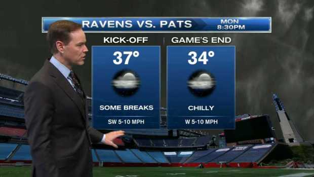 [NECN] Weather Forecast: Chilly Night for Patriots