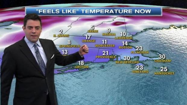 [NECN] Weather Forecast: Bitter Cold Monday