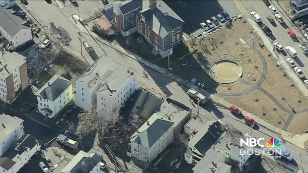 [NECN] Building Collapse in Lawrence, Mass.