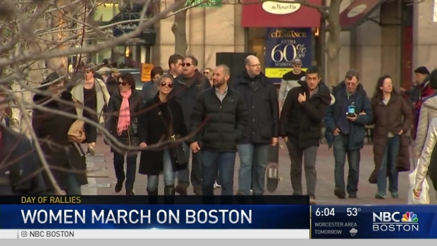 [NECN] Boston's Women's March Draws Thousands
