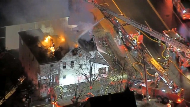 [NECN] Early-Morning Fire Tears Through Belmont Home