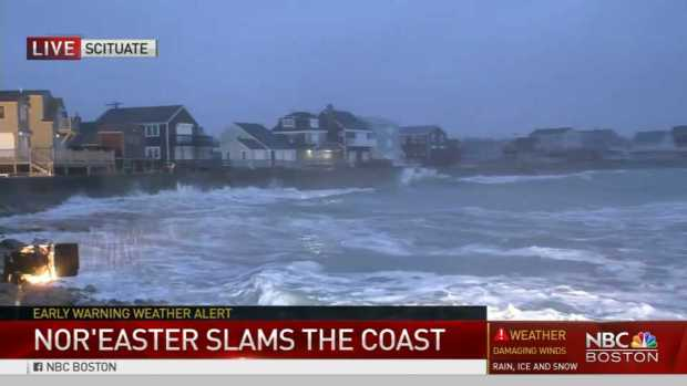 [NECN] High Tide Concerns Amid Storm