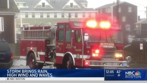[NECN] Storm Brings High Wind, Waves