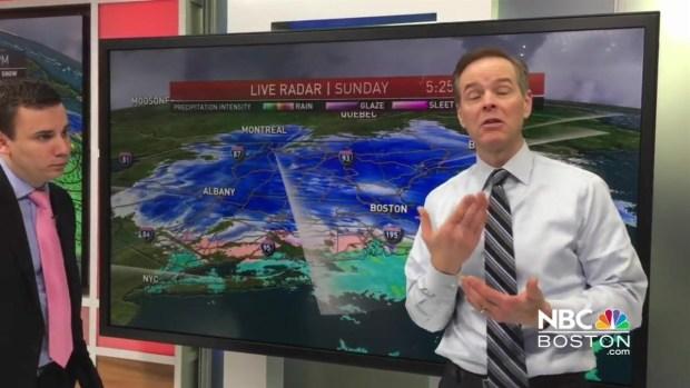 [NECN] Meteorologists Chris Gloninger and Pete Bouchard Provide Updates on the Storm