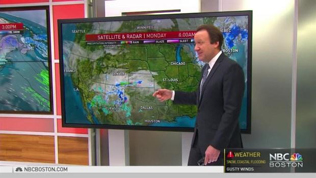 [NECN] Weather Forecast: Mostly Cloudy, Coastal Snow