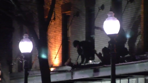 [NECN] Man Attacks Person With Pan, Jumps Out Window to Flee Cops