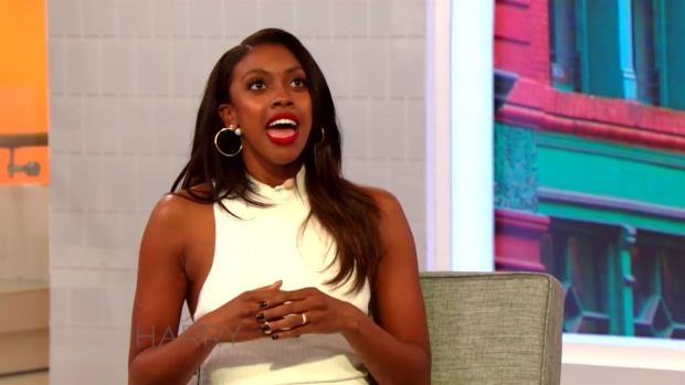 Condola Rashad Talks to Harry About Her Engagement