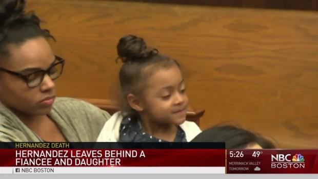 [NECN] Aaron Hernandez Leaves Behind Fiancee, Daughter