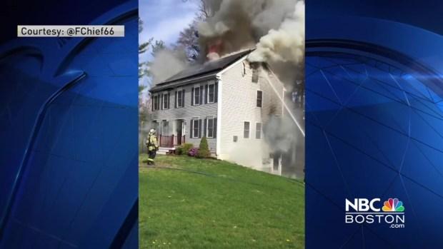 [NECN] Crews Respond to Fatal Fire in East Bridgewater, Massachusetts
