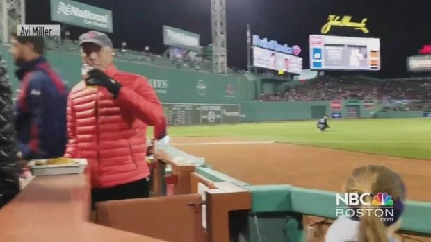 [NECN] Red Sox Fan Throws Bag of Peanuts at Orioles' Adam Jones