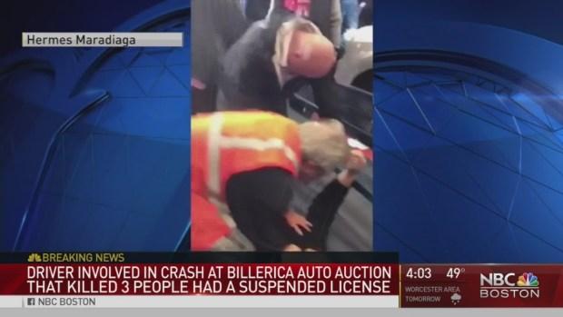 [NECN] Driver in Fatal Auto Auction Crash Had Suspended License
