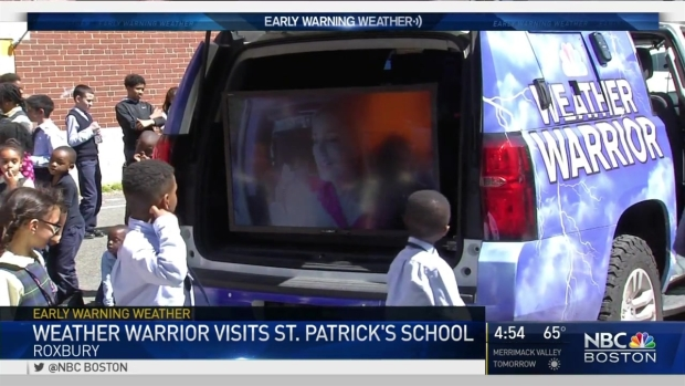 [NECN] Weather Warriors Visits St. Patrick's School
