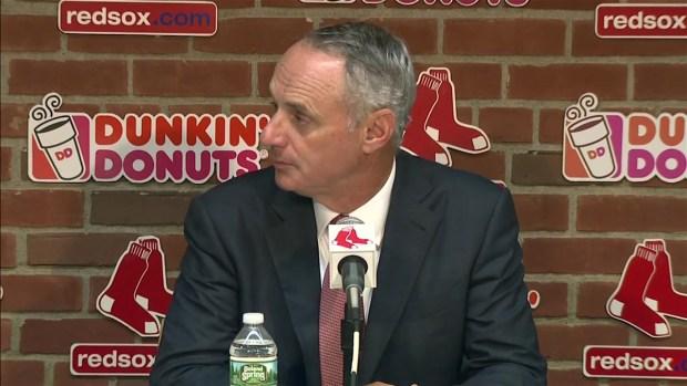 [NECN] MLB Commissioner Addresses Red Sox Sign Stealing Investigation