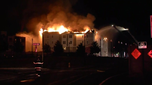4-Alarm Fire Hits Weymouth Apartment Building