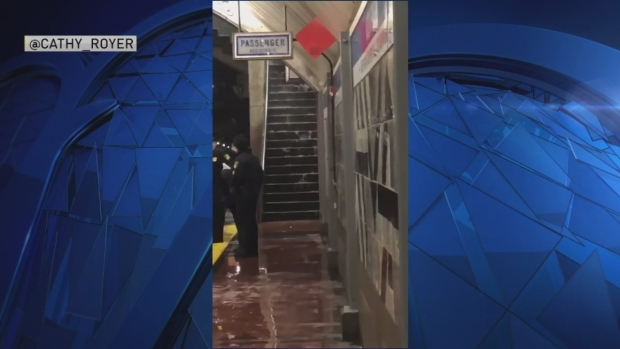 Aquarium MBTA Stop Takes on Water