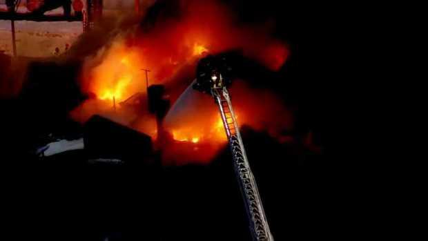 Heavy Flames, Black Smoke Erupt From Lynn Building