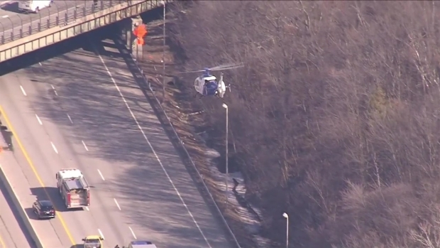 [NECN] Patient Airlifted From Mass. Pike Crash