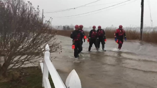 [NECN] Crews Checking in on Plymouth Co. Residents