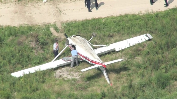 [NECN] Sky Ranger: Plane Goes Off Runway in Hanson