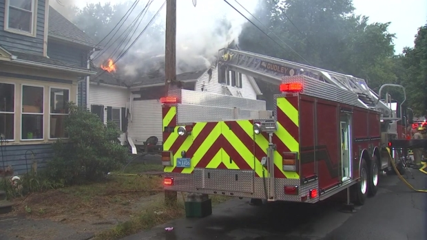 Lightning Causes Fire in Webster