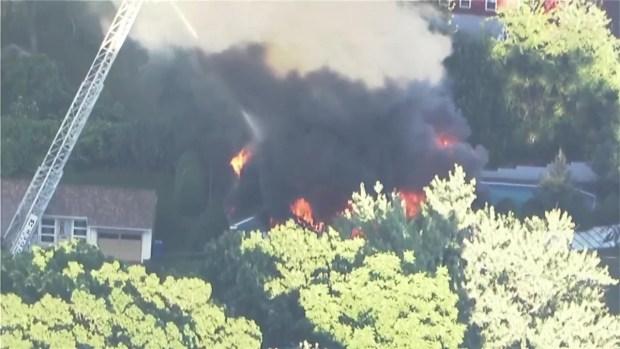 [NECN] NBC10 Boston Sky Ranger Over Merrimack Valley Disaster