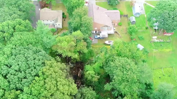 [NECN] Video Shows Where Plane Crashed in Woburn