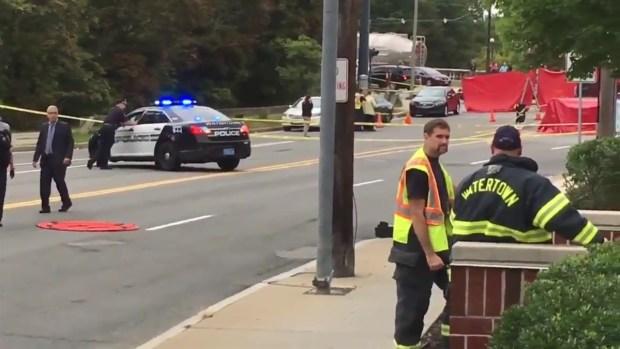 [NECN] Authorities Investigate Road Rage, Stabbing Scene in Watertown