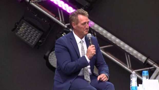 [NECN]WATCH: Jeff Flake Speaks at Forbes Event in Boston