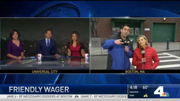 NBC10 Boston, NBC Los Angeles Make Their World Series Bet