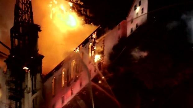 Necn Nbc10 Boston Sky Ranger Over Wakefield Church Fire